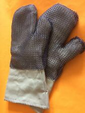 SUPERIOR Glove Works R800GMM Dragon Extreme Heavy-Gauge SS Mesh w Kevlar Mitt L