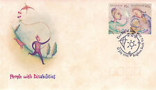 AUSTRALIA 13 JULY 1995 PEOPLE WITH DISABILITIES OFFICIAL FIRST DAY COVER SHS