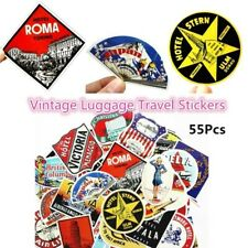 55pc Retro Vintage Old Fashioned Style Luggage Suitcase Travel Stickers Gift