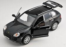 BLITZ VERSAND Porsche Cayenne Turbo schwarz Welly Modell Auto 1:24 NEU OVP BOX