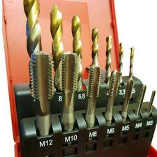Dormer L115101 14pc Metric Coarse Tap & HSS-TiN Drill Bit Set
