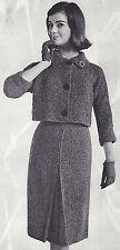 Vintage Knitting PATTERN to make Suit Jacket Skirt Culotte Bulky Knit CulotteSui
