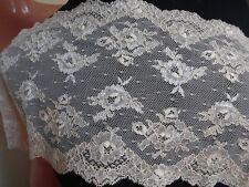 Weiß SPITZE elastisch 17cm breit elegante Borte Spitze