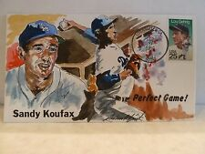 "SANDY KOUFAX WILD HORSE ""HAND PAINTED ARTIST SIGNED"" CACHET #24 OF 60"