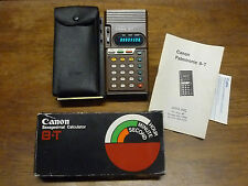 CANON 8-T SEXAGESIMAL RARE VINTAGE CALCULATOR MIB WORKS PERFECTLY!