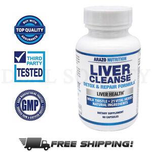 Liver Cleanse Detox & Repair Formula Milk Thistle Support Supplement, 60 Count