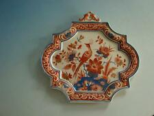 0714A1-052: Delft Keramik Platte mit Pfau Koninklijke Delftsche Aardewerkfabrik