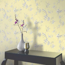 Arthouse Chinoise Floral Birds Opera Heavyweight Wallpaper Yellow 422804