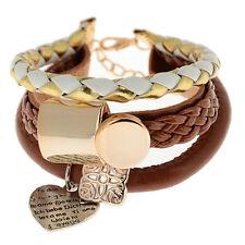 Neu Mode Damen Armband Schmuck Leder Unendlichkeit Stulpe Armbander Geschenk