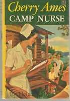Cherry Ames #19 - Camp Nurse by Helen Wells - Hardback PC Yellow Spine