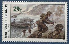 Marshall Islands 1992 World War 2 WW II Scott 322 Dieppe Raid W49 NH