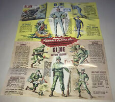"1964 12"" GI JOE ACTION SOLDIER Box Gear Insert Catalog Bright Colors Sharp"