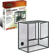 "Zilla Fresh Air Screen Habitat Cage For Reptiles Large 30""L x 18""W x 30""H"