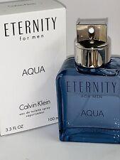 ETERNITY AQUA Calvin Klein for Men Cologne  Eau de toilette 3.3 Oz NiB