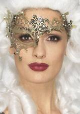 Filigrane Metall Augenmaske gold NEU - Karneval Fasching Maske Gesicht