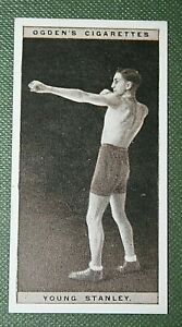 British Bantam--weight Boxer  Young Stanley   Original Vintage Photo Card