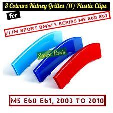 3d 3 COLORI Rene Grille clip in plastica BMW serie 5 M Sport e60 e61 m5 2003-10