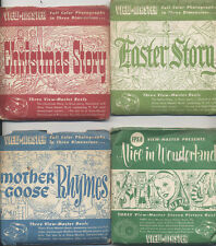 SIX ORIGINAL VIEW MASTER REELS W/ EXTRA COVERS - MANY POPULAR TITLES