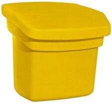 Outdoor Sand Salt Storage Bin Yellow Waterproof Rodent Resistant Lid Plastic New