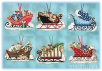 MILL HILL beaded ornament kits - SLEIGH RIDE CHARMED ORNAMENT COLLECTION