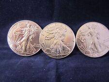 3 - 2016 American Silver Eagle Dollar Walking Liberty 1 Troy oz  BU Upper Grade