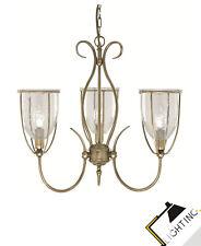 3-Flammige Décoratif Lampe de Couronne Vieux Laiton Ø 52cm Lampe à Suspension