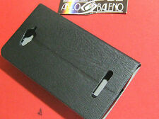 CUSTODIA COVER ECO PELLE Per ALCATEL OT POP C7 7041 7041D Case ONE TOUCH NERO
