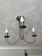 BRUSHED CHROME 3 ARM CEILING LIGHTS #1