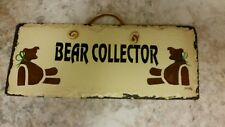 PLAIN JANE HAND MADE NEW ORLEANS SLATE ROOF TILE HANGING SIGN BEAR COLLECTOR!