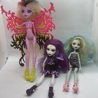 MONSTER HIGH Doll Lot of 3 DOLLS SPECTRA '10  * LAGOONA '08 *BONITA '13 - Used