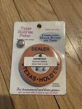 Texas hold 'em Poker digital timer and dealer button , battery included