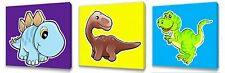 Dinosaur set of Three Wall / Plaques canvas pictures
