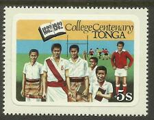 TONGA 1982 COLLEGE CENTENARY RUGBY UNION English Language 1v MNH