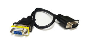 RGB CGA 9-Pin Female to HD15 Pin Male VGA Adapter Cable