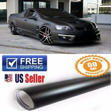 "PREMIUM 12""x60"" Matte Flat Black Vinyl Wrap Sticker Decal Paint Protection Film"