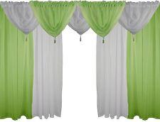 vert & blanc 9 pièces Ensemble voile 137cm 137cm à passants dissimulés RIDEAUX &