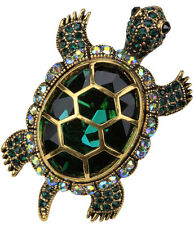 Big turtle stretch ring silk scarf clip clasp for women her mom jewelry gift 5