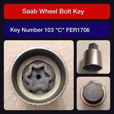 """Genuine Saab locking wheel bolt / nut key FER 1706 103 """"C"""""""