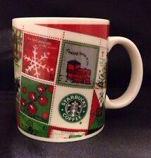 Starbucks Coffee Co. Barista Rare Holiday 2001 Christmas Stamps Mug