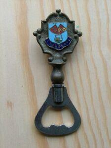 Vintage Llandduno enamelled crest souvenir bottle opener BB058