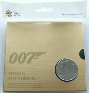 2020 James Bond 007 Shaken not Stirred £5 Five Pound Coin Pack Uncirculated