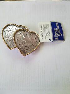 Montana Silversmith's Double Heart Buckle
