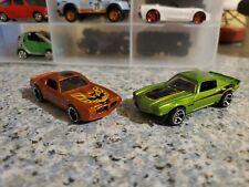 Hot Wheels Set Of 2 Muscle Cars Camaro & Firebird