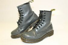Dr. Martens USED Womens Size 6 37 Patent Leather 8-Eye Lace Up Combat Boots 1460