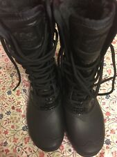 New The North Face Mid high Women Water Proof Leather Boots Shoes Black Size 6