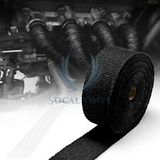 "Black Exhaust Pipe Insulation Thermal Heat Wrap 2""x50' Motorcycle Header"