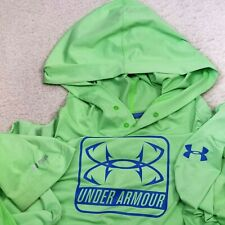 UNDER ARMOUR HEAT GEAR GREEN HOODIE MENS SIZE 2XL LOOSE NICE CONDITION