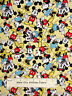 Disney Mickey Minnie Mouse Togetherness Cotton Fabric Springs CP51320 Yel YARD