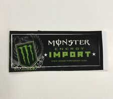Monster Energy Drink IMPORT Sticker (1) Unused NOS