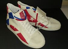 MENS VINTAGE STYLE CONVERSE ALL STARS 1976 DR J RETRO LEATHER RED WHITE BLUE